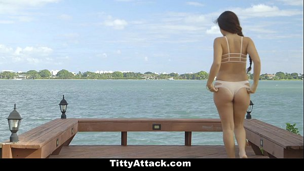 TittyAttack - Busty Latina Fucked By The Pool  thumbnail