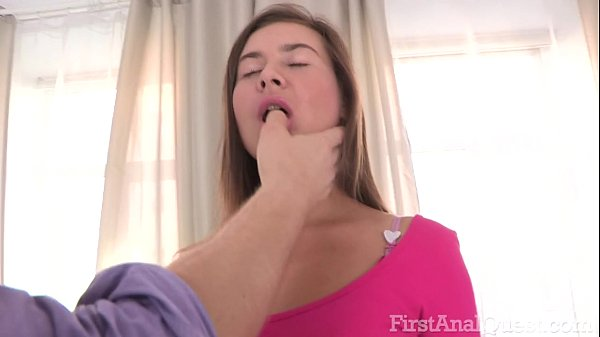 FIRSTANALQUEST.COM - BRUNETTE ANAL WITH TOY ...
