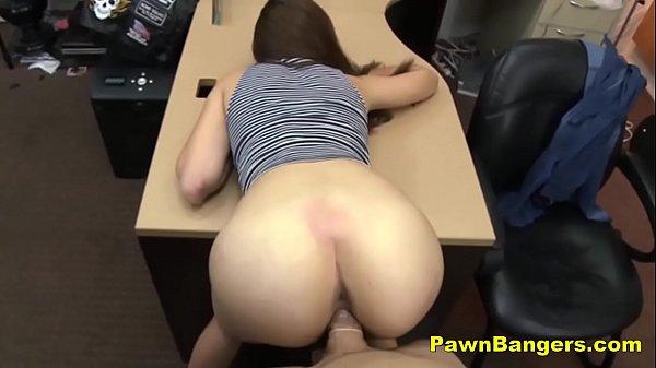 tall brunette babe fucks in her high heels
