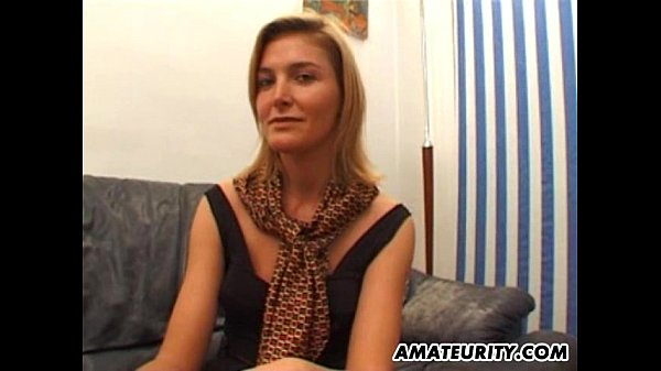 Blindfolded amateur girlfriend sucks and fuc...