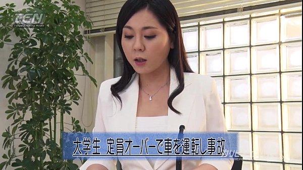 ニュースの放送中、男性キャスターが女性キャスターにセクハラ