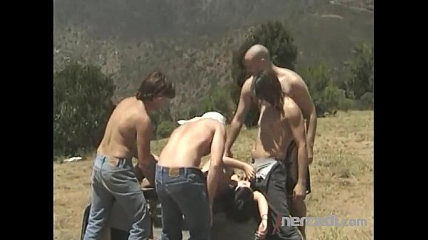 5 Guys Destroy a Teen Out Hiking Anal...
