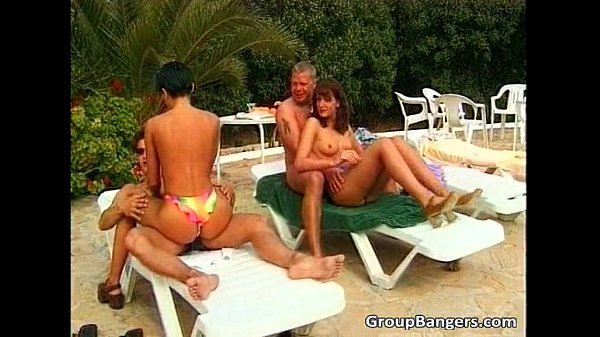 Pool sex party with teens and MILF's...