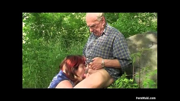 Grandparents fuck outside - 3 part 4