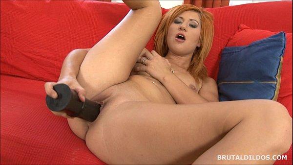 strawberry blonde anal dildo
