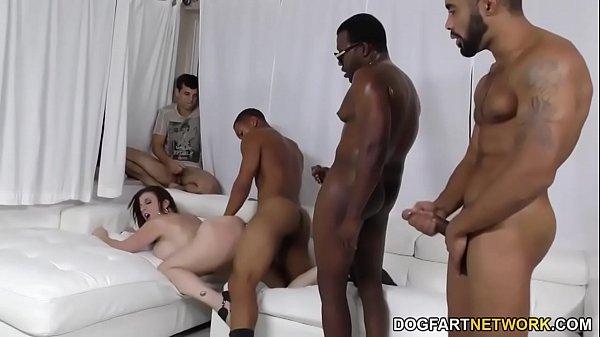 black slut gangbanged