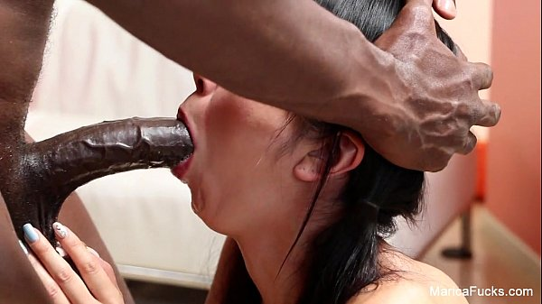 Cute Brunette Doing A Deepthroath For Her Bull