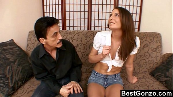11 Min Horny Young Babe Takes On Big Cock From Older Man BestGonzo.com