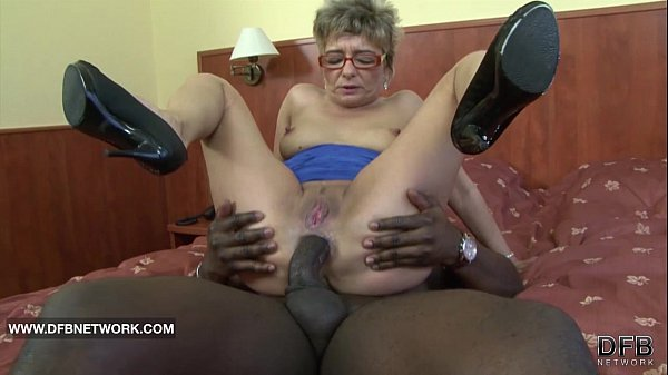 Hot blonde grandma enjoys two fresh cocks 10