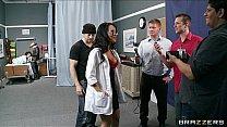 Groupie Girl & Hospital Nurse Start Orgy With T...