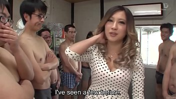 Subtitled Japanese AV star and gyaru AIKA blowjob party