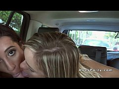 Two bi girlfriends getting facial