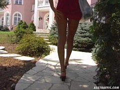 Ass Traffic Tall blonde takes dual penetration ...