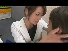 Japanese offce chick fucked hard and loaded wit...