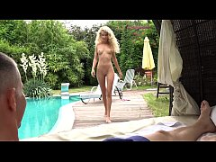 Outdoor sucking and fucking for pretty blonde M...