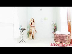 Sexy Milf Julia Ann Get Soaking Wet in Shower!