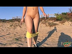 Big Ass 19yr Cameltoe Outdoor Stretching and Na...