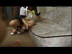 19yr old Japanese Schoolgirl Loves Bukkake