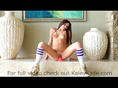 Kaley Kade Rides a Suctioned Dildo