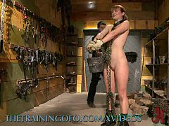 Hardcore BDSM Training of Red Head