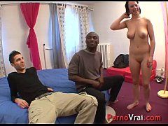 Creampie surprise! He filled her pussy !! French amateur