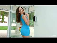 Creampie gonzo scene with Liza Shay from All In...