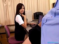 Office Lady Sucking Guy Cock In The Office