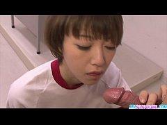 Sexy Akina Hara blowjob in cute uniform