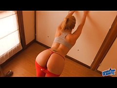 Busty Blonde White Teen! Big Round Ass! Camelto...