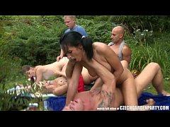 Hardcore Group Garden Orgy