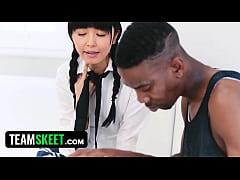 TeensLoveBlackCocks - Japanese Tutor Gets Drill...