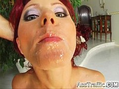 Ass Traffic Wild redhead Liza takes toys and tw...