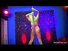 Britney Amber Strips & Fucks