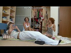 Crazy group sex with two hotties scene 1