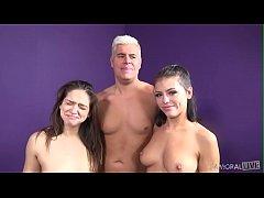 Naughty Adriana Chechik and Sara Luvv Share Cock