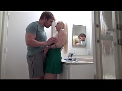 Cheating Mom Fucks Son in Bathroom While Her Hu...