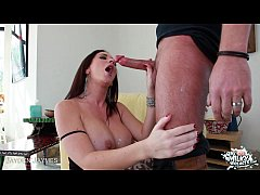 Busty Jayden James slurp and fuck cock