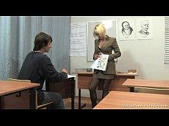 Russian mature teacher 2 - Nadezhda (mature tea...