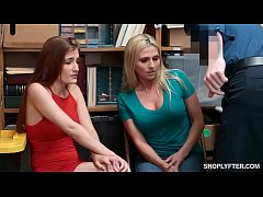 Teen and mom get caught shoplifting by the stor...