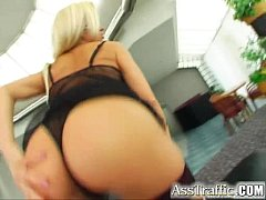Ass Traffic Busty Stacy takes dong up the ass. ...