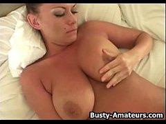 Big Boobs Leslie Masturbates With Dildo