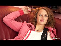 Fakeshooting - Seductive redhead gets her pussy...