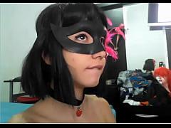 Masked girl gets a cumshot - girl's profile at freecamgirlsclub.tk