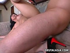 Exciting Asian dolly Mika Tan enjoys rough ass ...