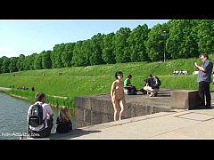 Spectacular Public Nudity With Miriam And Celine