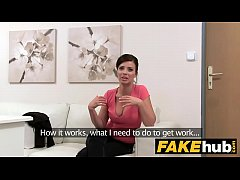 Fake Agent - Model Vicky Love takes Cumload on ...