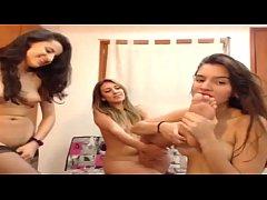 Lesbian webcam threesome (Part 1)