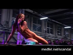 Erotic dancers strut their stuff on stage in fr...