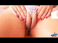 Busty Blonde Teen Getting Wet On Cameltoe Tits ...