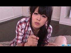 POV Asian blowjob scenes with hot Riisa Minami